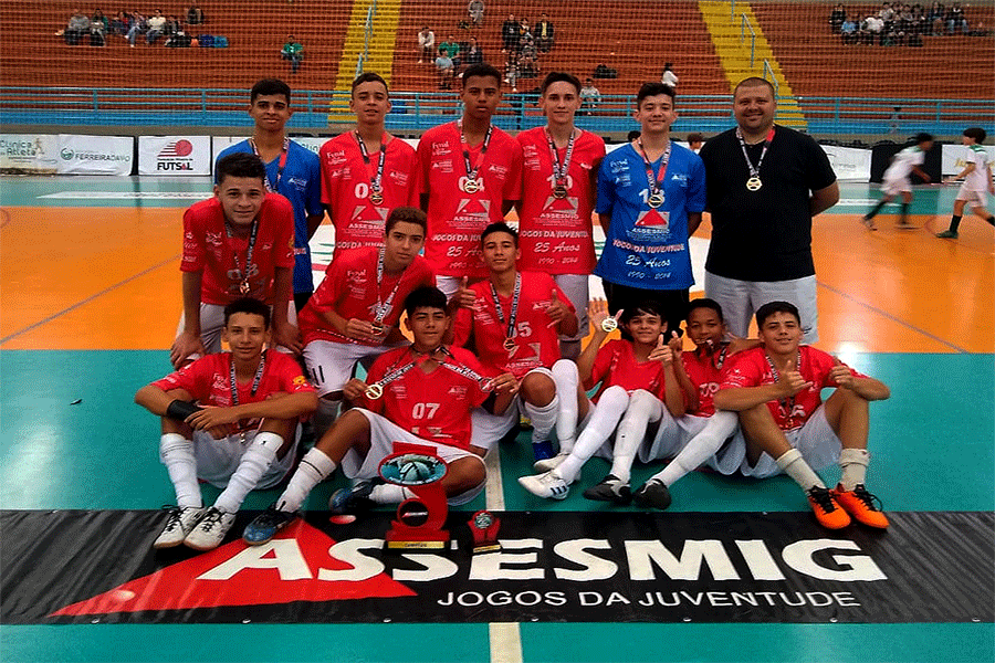 Time de futsal infanto-juvenil de São Lourenço é campeão do Jojuninho 2019