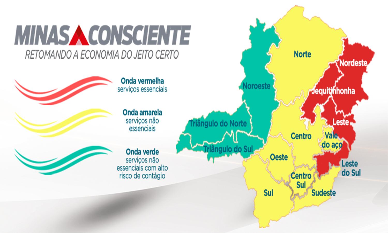Metade do estado regride para fases mais restritivas do Minas Consciente